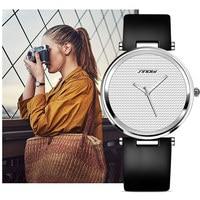 SINOBI Fashion Women Wrist Watches Leather Watchband Top Luxury Brand Female Dress Quartz Clock Ladies Wristwatch