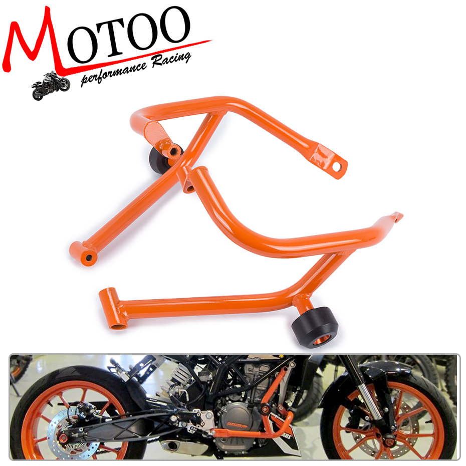 Motoo- Motorcycle Refit Tank Protection Bar Protection Guard Crash Bars Frame For KTM DUKE 200 DUKE200 2013-2016 motorcycle front rider seat leather cover for ktm 125 200 390 duke