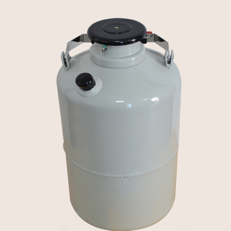 Liquid Nitrogen Container Molecular Cream Cans Biological Containers for Cryogenic Dewar Storage Tank with Strap