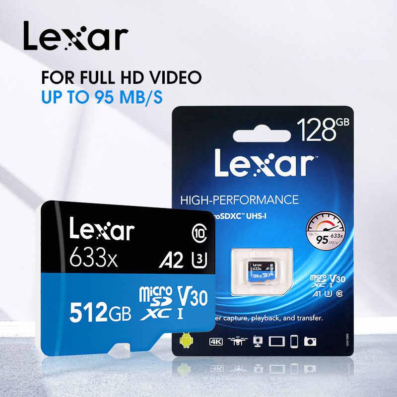Оригинальная высокоскоростная карта Micro SD Lexar 256 ГБ, карта памяти 128 ГБ, 64 ГБ, класс 10, 633x, TF карта, 32 ГБ, флеш-карта