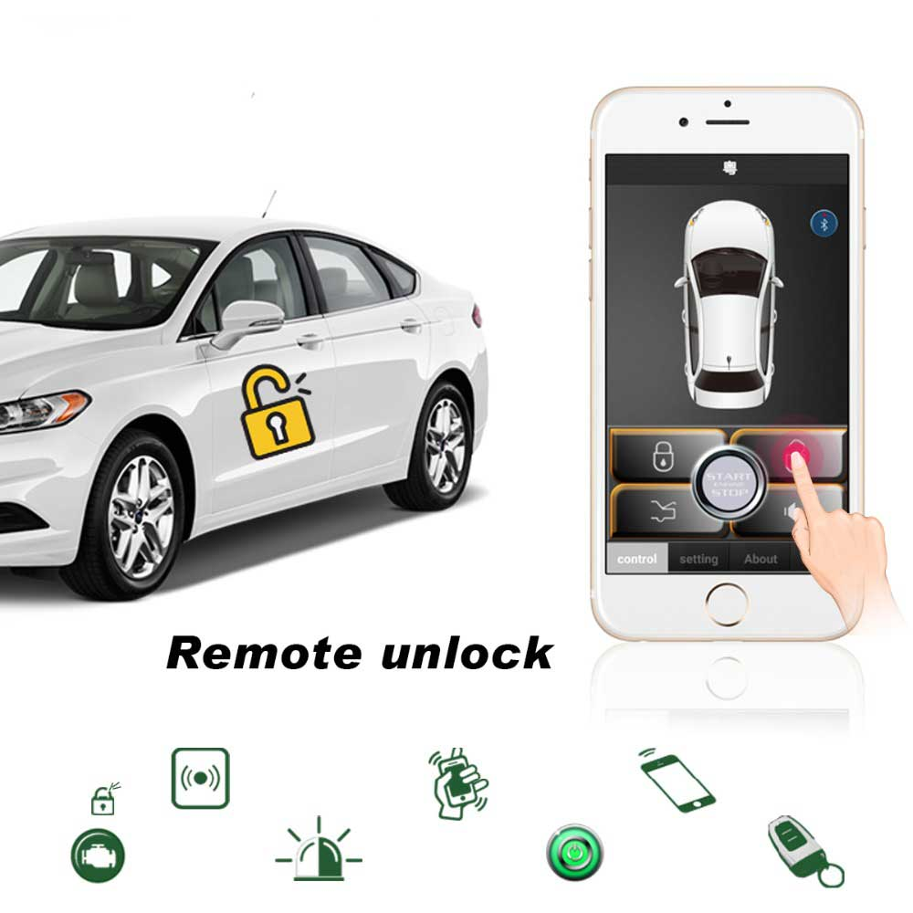 Car Alarm SUV Keyless Entry Remote Engine Start Alarm System Push Button Remote Starter Stop Auto Car Security Accessories