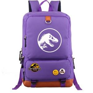 Image 3 - Multicolor Jurassic Dinosaur Skull Skeleton Boy Girl School bag Women Bagpack Teenagers Schoolbags Canvas Men Student Backpack
