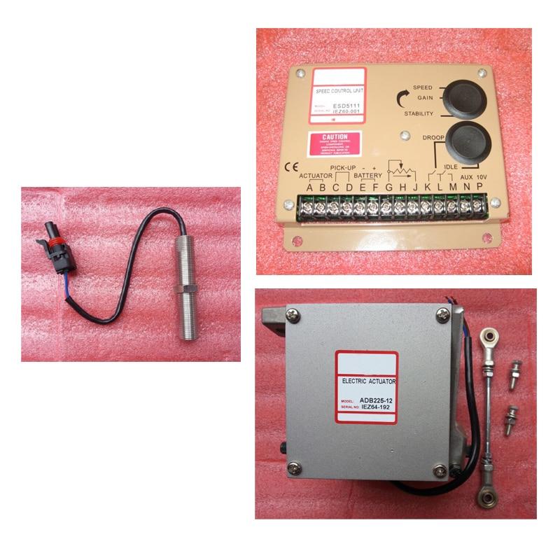 ADB225-24V or ADB225-12V Generator Actuator ADB225 ( 12v or 24V ) with speed governor ESD5111 and speed sensor 3034572 esd5500e series speed governor with generator actuator adc225 12v or 24v adc225 12 and speed sensor 3034572