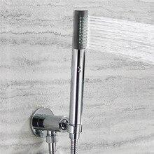 Ручная душевая головка аксессуары для ванной комнаты цилиндрический душ ручной душ принадлежности для ванной комнаты Душ цилиндрическая головка