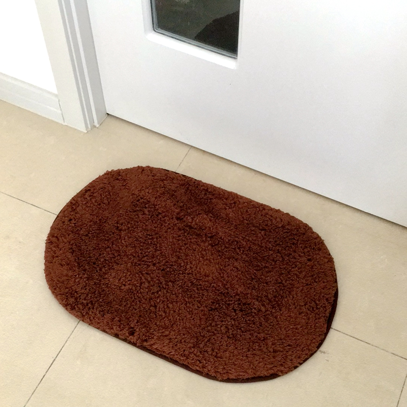 Oval Plush Shaggy Soft Water Absorption Non Slip Small