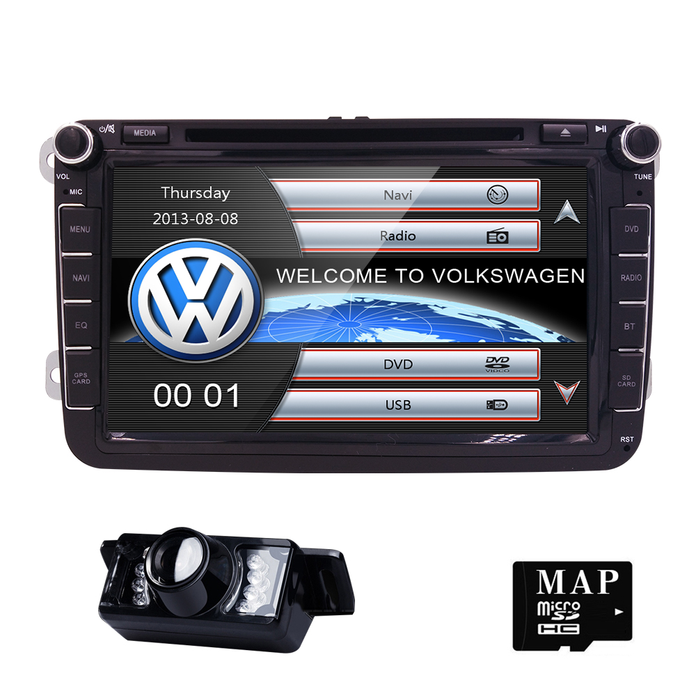 2 Din wince 8g maps 800x480 Car DVD Player Stereo Navigation For VW Skoda POLO GOLF