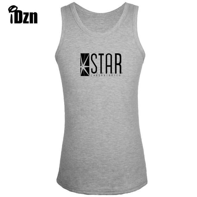 ce424442fc9e IDzn Fitness Bodybuilding Abbigliamento New Canotte Uomo Canotta DC Comics  The Flash STELLA Laboratori S.T.A.R. Labs