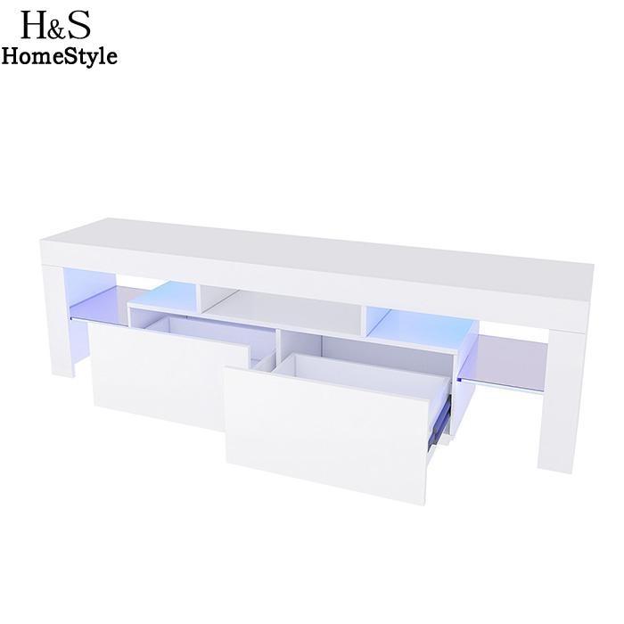 TV Gloss LED High Stand Modern LED Living Room Furniture TV Cabinet