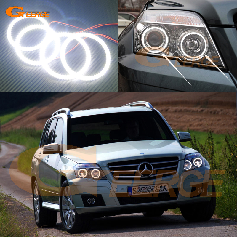 цена For Mercedes Benz GLK 280 300 320 350 2010 2011 2012 Excellent angel eyes Ultra bright illumination smd led Angel Eyes kit онлайн в 2017 году