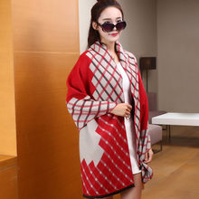 Fashion Patchwork Echarpe Hiver Femme Cashmere Luxury Brand Blanket Scarf Tartan Shawls And Scarves Wrap YJWD276