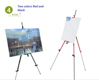 Can Rotate 180 degrees Outdoors Aluminium Alloy Folding Painting Easel Frame Adjustable Tripod Display Shelf And Carry Bag