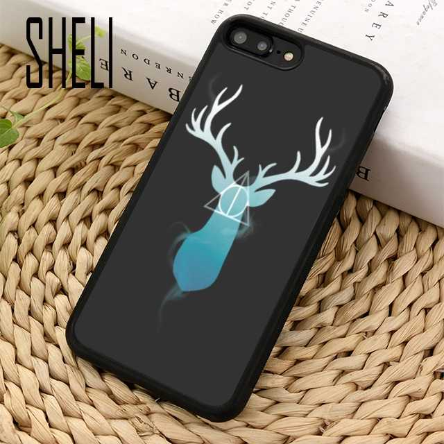 Чехол SHELI Coque для телефона с оленем Гарри Поттера, чехол для iPhone 6 6 S 7 8 Plus X XR XS max 5 5S SE samsung Galaxy S6 S7 edge S8 S9 Plus