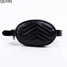 QIUYIN  Fanny Bags Ladies Fit 5 inches phones Vintage Waist Bag Women Alligator Leather Belt Pack Travel Wallets