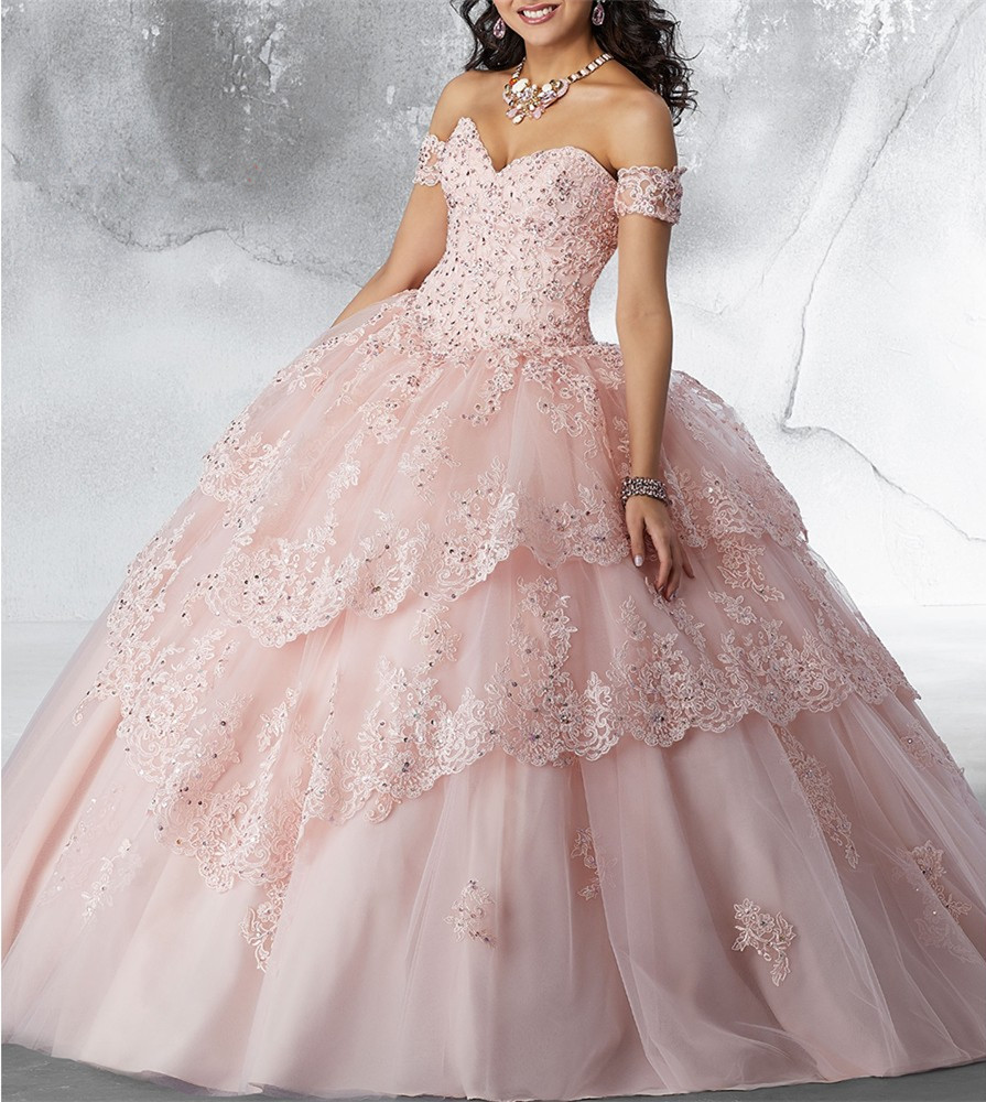 Image 4 - JaneVini Luxury Princess Ball Gown Red Quinceanera Dresses Sweetheart Appliques Heavy Beaded Pageant Prom Gowns Vestidos 15 AnosQuinceanera Dresses   -