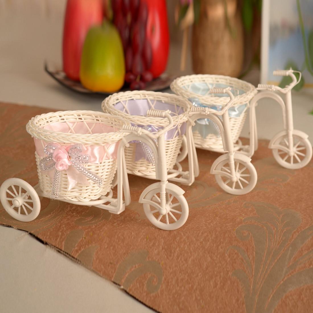 Мини ручной Велосипедный Спорт Цветочная корзина ваза для Свадебные украшения домашний сад Свадебная вечеринка украшения настольных ваза ...