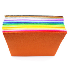 40pcs Mixed 15x15cm Non Woven Felt Fabric 1mm Thickness Polyester Cloth Felts DIY Handcrafts For Sewing Dolls Decor LX160