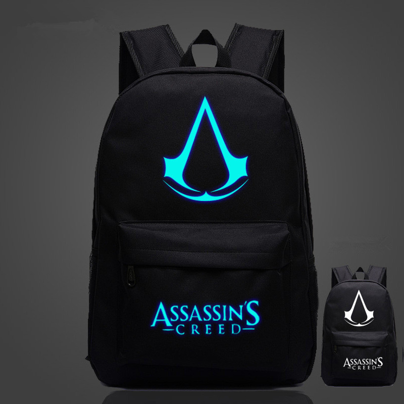 FVIP Assassins Creed Zaino Caldo di Trasporto Libero di Alta Qualità Lumious Game Boy Ragazza Sacchetti di Scuola Per Adolescenti Oxford Zaini