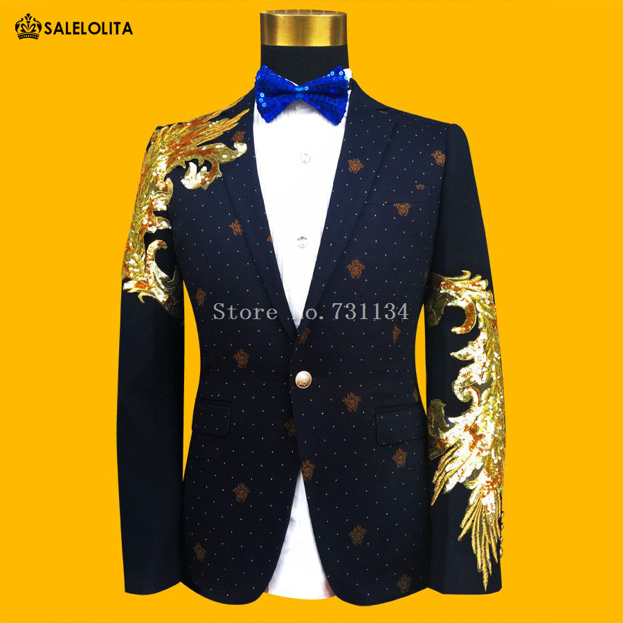 Popular Blue and Gold Prom Suit-Buy Cheap Blue and Gold Prom Suit ...
