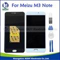 Original para meizu m3 note m681h m681q substituição digitador da tela de toque + display lcd para meilan nota 3 branco preto + ferramentas