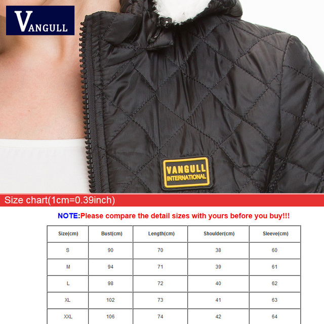 Vangull Winter Jacket Women Thick Warm Hooded Parka 2018 New Slim Down cotton clothing Long sleeve Coat Female Autumn Outerwear 5
