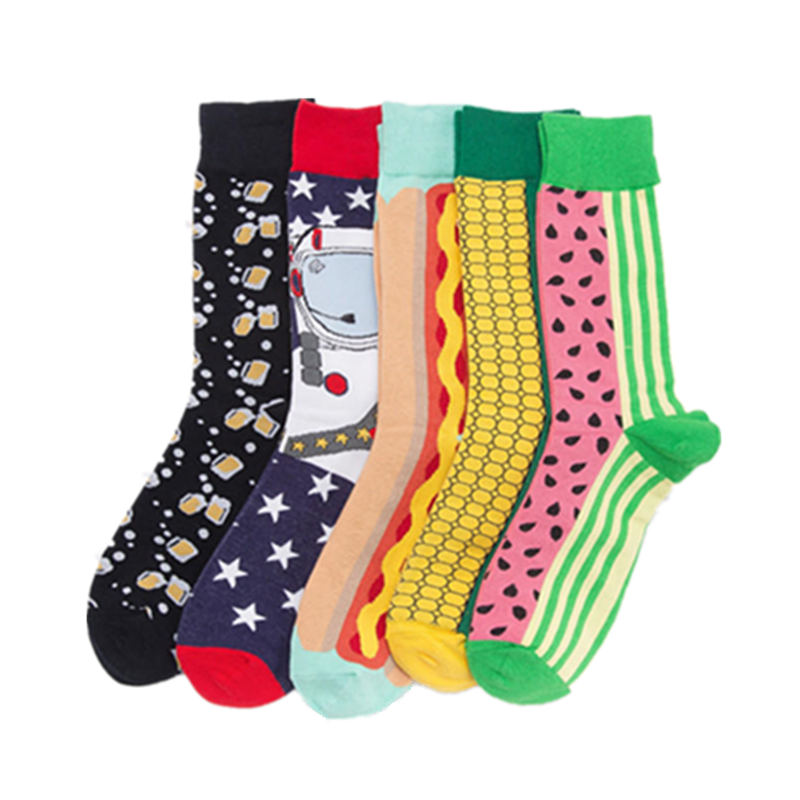 Casual Cotton Color Extra Large Happy Socks Fashion Men Women Funny 8-10.5
