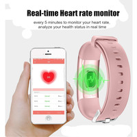 Longet M4 умный браслет в реальном времени монитор сердечного ритма + измерять кровяное давление PPG ЭКГ фитнес-трекер часы умный Браслет