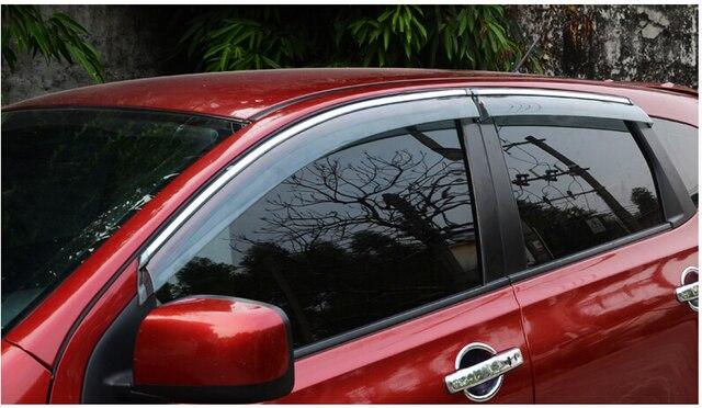 Coche que labra toldos refugios Vent Shade Visera de la Ventana Lluvia/Sol/Viento Guardia Recorta para Nissan Qashqai 2015 2016