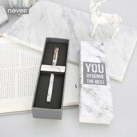 Never Marble Series Metal Magnet Pen Gel Pen Black Ink 0 5mm Gift Packaging Korean Stationery