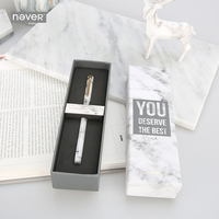 Never Marble Series Metal Magnet Pen Gel Pen Black Ink 0 5mm Gift Packaging Korean Stationery