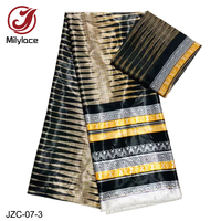 Fashionable Printed Satin Fabric 4 Yards +2 yards Chiffon fabric for one set for Garment Material JZC 07