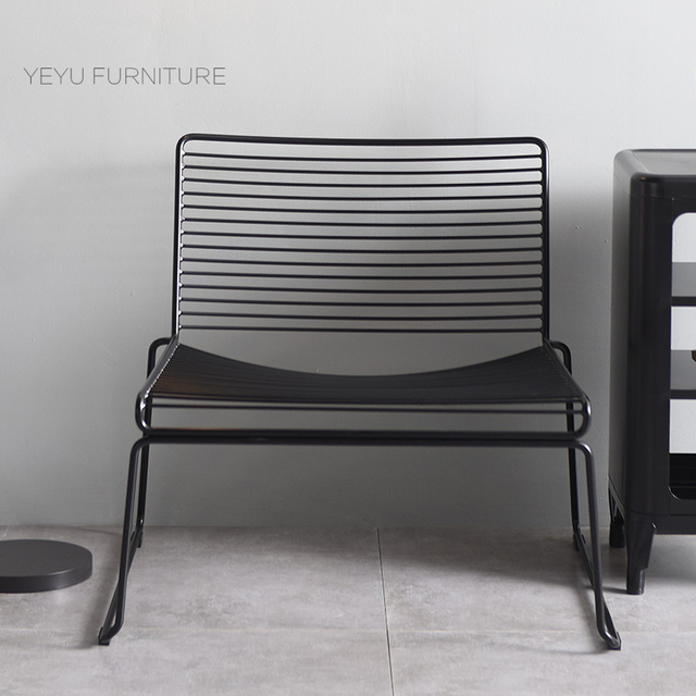Modern Classic Metal Outdoor Loft Studio Wire Hee Lounge Chair Stackable  Harry Bertoia Steel Wire Leisure