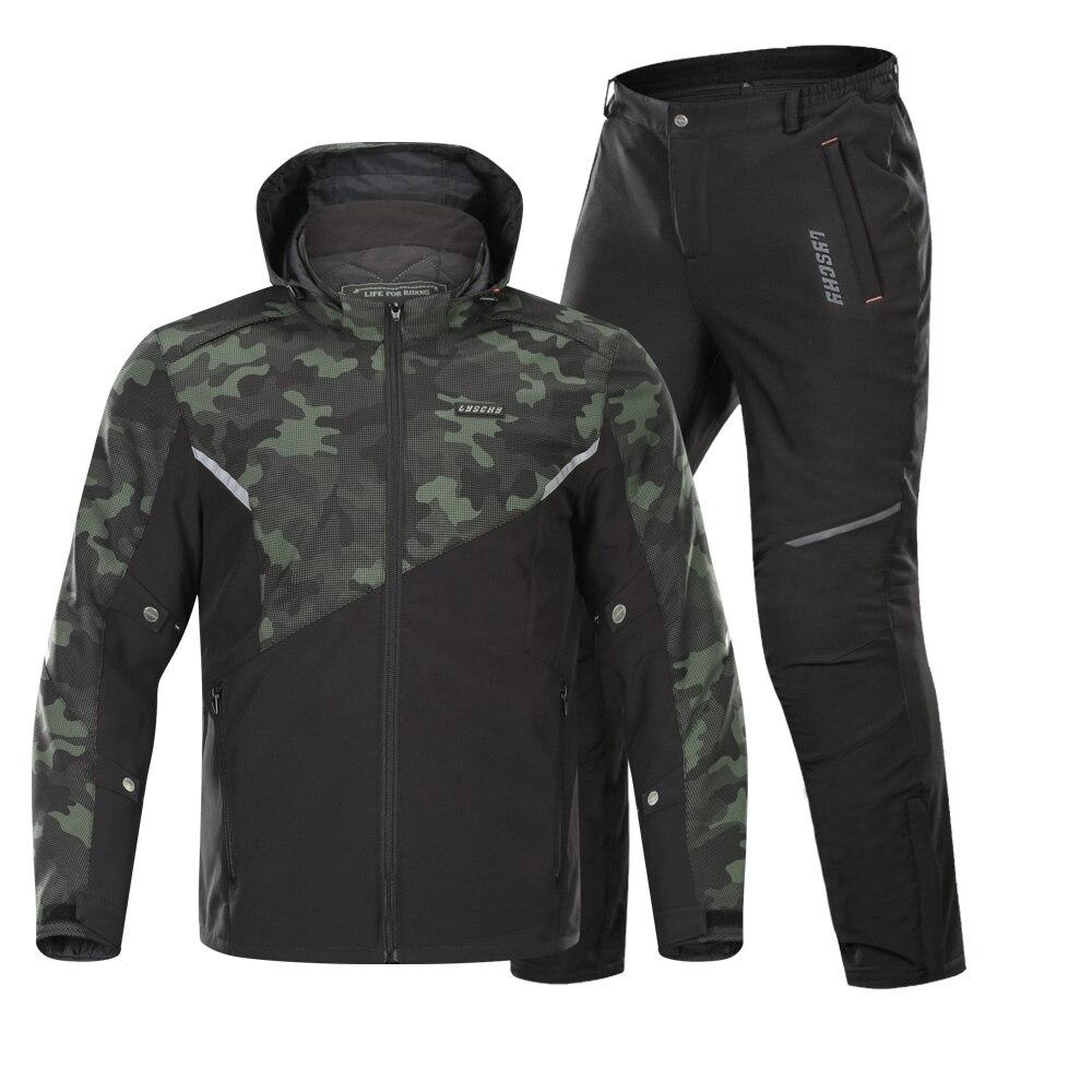 Motorcycle Jacket Motocross Suits Winter Summer Detachable Waterproof Jacket+Windproof Pants Motorbike Protective Combinations