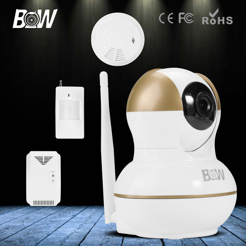 2016 BW HD 720P CCTV IP Camera Wireless Indoor Infrared Network Video Surveillance Wifi Security Camera Automatic Alarm System