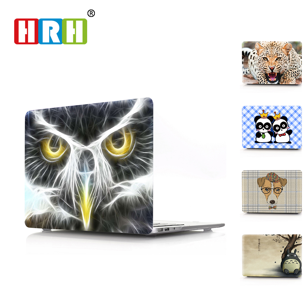 HRH 3D Cartoon Laptop Body Shell Protective Hard Case Sleeve For Macbook Pro Retina13 12 15 Air 13 11 New Pro Touch Bar13 15
