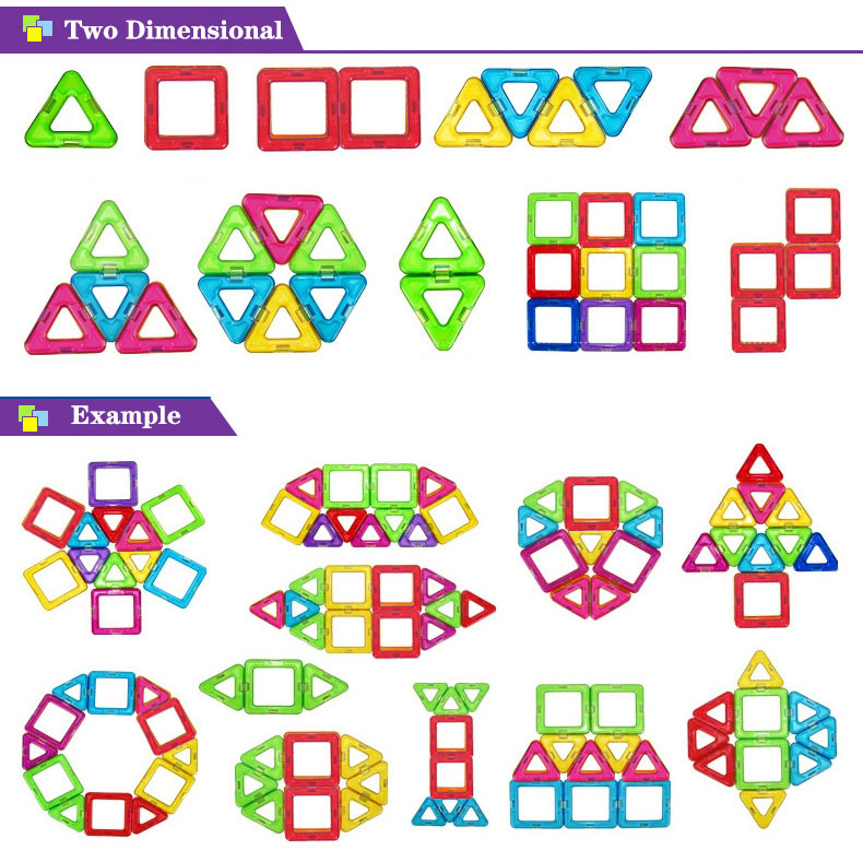 Magnetic Building Blocks Dimensional Shape and example