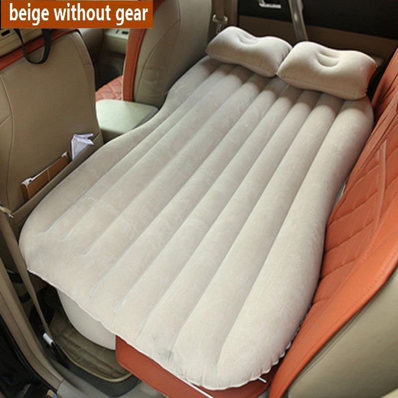 Car Back Seat Air Mattress inflatable Travel bed camping car accessories Good Quality rear seat bed Gift steering wheel cover durable thicken pvc car travel inflatable bed automotive air mattress camping mat with air pump