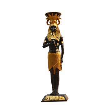 Egypt Candle Holders Resin Figurines Pharaoh Home Decoration Candlestick R965