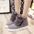 Autumn Winter Slip-on Thick Soled Boots Rabbit Ears Women Shoes Fashion Plush Casual Shoes Zapatos Mujer X030