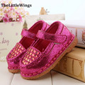 2015 new baby shoes girls cute flat party soft pu leather loafers outdoor chaussure princess toddler shoes prime Free Shipping