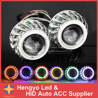 New 12V 2 8 Universal Car Styling Dual Angel Eyes HID Double Light Lens For H1
