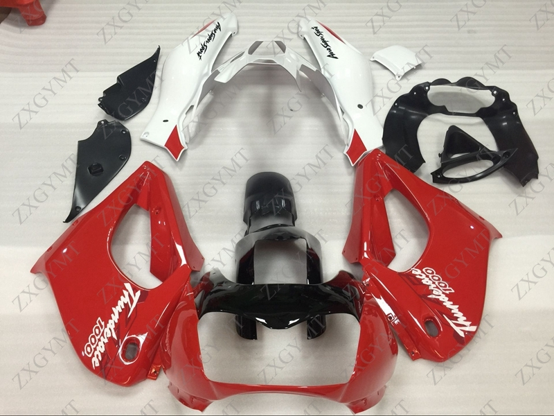 Fairings YZF1000R 1997 - 2007 Red White Plastic Fairings for YAMAHA YZF1000R 02 03 Abs Fairing Thunderace 04 05Fairings YZF1000R 1997 - 2007 Red White Plastic Fairings for YAMAHA YZF1000R 02 03 Abs Fairing Thunderace 04 05