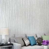 beibehang papel de parede Fashion green non woven wallpaper plain simple striped bedroom living room background wallpaper