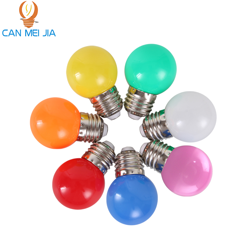 Canmeijia led Home Lighting Colorful Led Bulbs Light E27 3w LED Energy Saving Lamp Lights Bulb LEDs Decoration