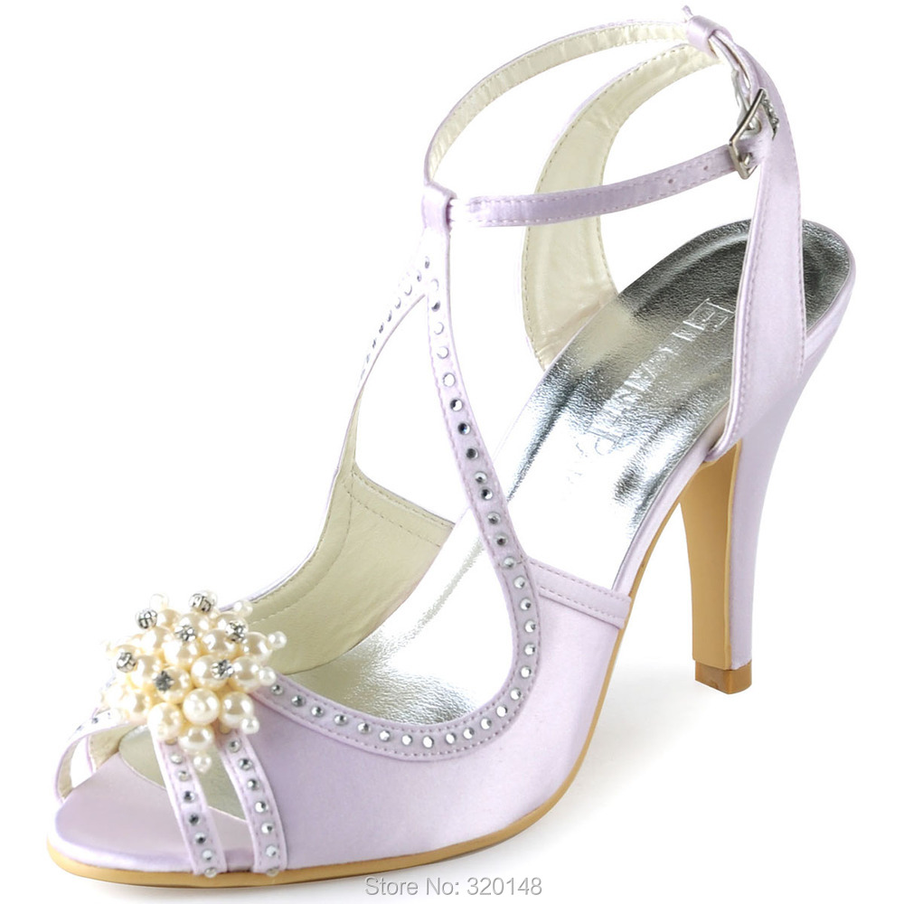 Summer Sandals Women pearls Ankle Strap High Heel Pumps Hot Pink ... 7a5d3f0d6cc8