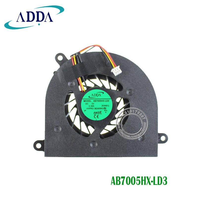 New CPU Cooling Fan For Lenovo IdeaPad Y550A Y550 Y550P AB7005HX-LD3 KIWB1
