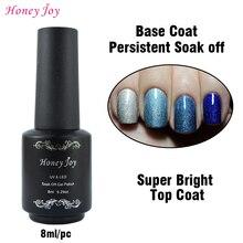 Honey Joy Gel Nail Primer 8ml Disposable Top Coat Top / Base Coat Foundation / Reinforced Gel for UV Gel Polish Nail Lacquer