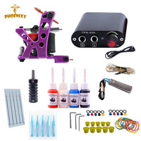 Tattoo Machine Kit One Tattoo Gun Beginner Tattoo Supplies Professional Tattoo Kit Complete 4 Inks With