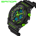 2016 New Brand SANDA Fashion Watch Men S Style Waterproof Sports Military Watches Shock Luxury Analog Digital Sports Watches Men