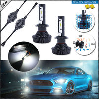 2 High Power LED Headlight Bulbs H7 6000K Xenon White Powered By Philips Luxeon LED