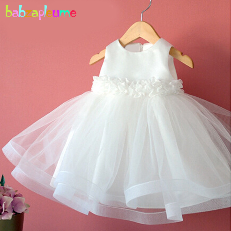 babzapleume 2-7Years/summer kids wedding dresses white lace tutu infant party princess baby girls dress children clothing BC1526 комбинация glow lisca цвет черный коричневый